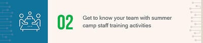 Check out these tips on how to get to know your team with summer camp staff training activities.